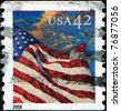 UNITED STATES OF AMERICA - CIRCA 2008: A stamp printed in the USA shows Flag on the sky, circa 2008 - stock photo