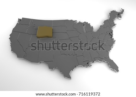 Wyoming Map Stock Images RoyaltyFree Images Vectors Shutterstock - Map highlighted southeast us