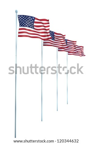United States of America Flag Detail Render - stock photo