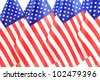United States of America flags queue - stock photo