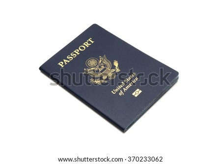 United states of america passport - stock photo