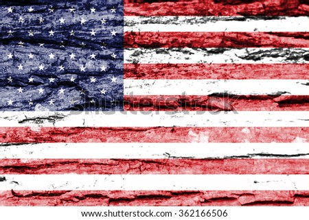 Flag United States America Created Splash Stock Illustration - How old is the united states of america