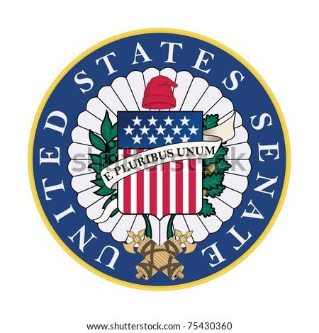 United States Senate Seal Isolated On Stock Illustration ...