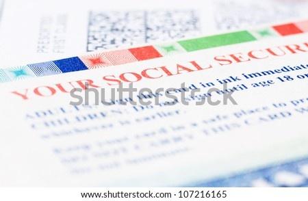 United States Social security Blue Card