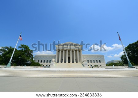 United States Supreme Court Building in Washington, District of Columbia, USA - stock photo
