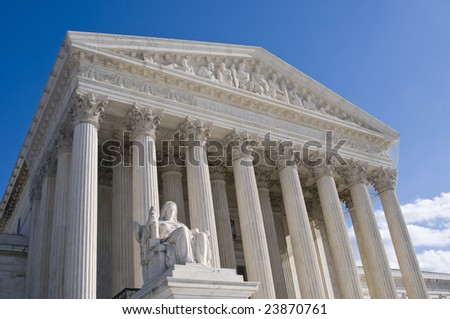 United States Supreme Court Building, Washington DC - stock photo