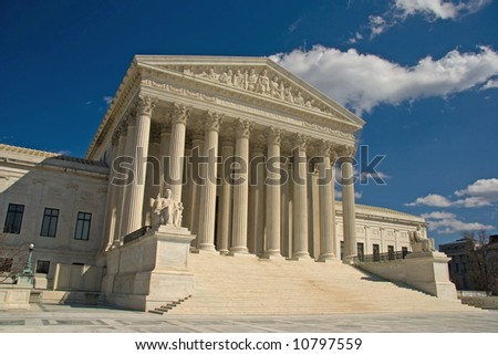United States Supreme Court, Washington DC - stock photo