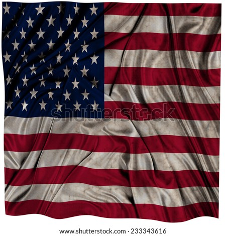 United States waving flag - stock photo