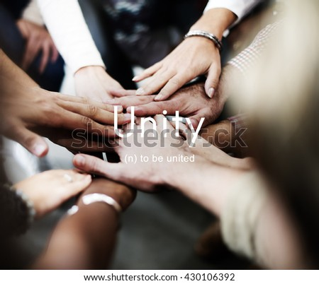Unity Community Connection Cooperation Team Concept - stock photo