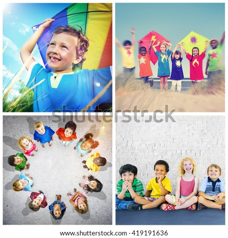Unity Young Variation Diversity Ethnicity Children Concept