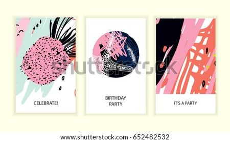 Universal abstract posters set creative abstract stock
