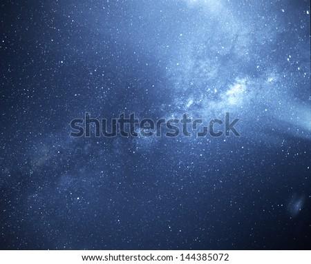 Universal milky way galaxy - stock photo