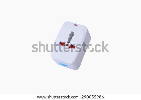 Universal plug White background - stock photo