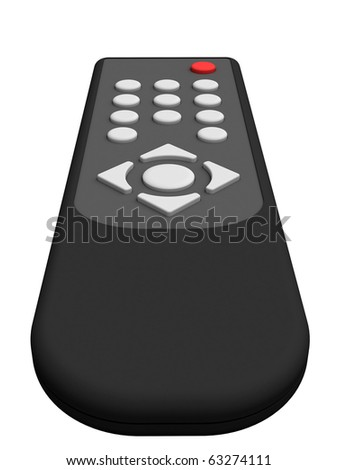 Universal remote control isolated on white background. High resolution 3D image. - stock photo