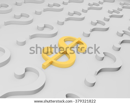 Universal sign marking the most wide-spread currency in world - an American dollar - stock photo