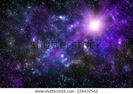 Universe background for presentation design. Star and space - stock photo
