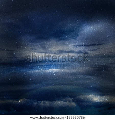 Universe filled with stars - stock photo