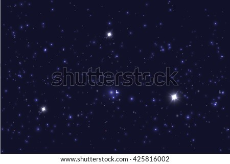 Universe filled with stars. Blue starry sky background. - stock photo
