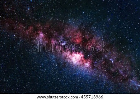 Universe space shot of milky way galaxy with stars on a night sky background.The Milky Way is the galaxy that contains our Solar System