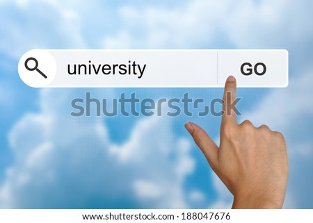 university button on search toolbar - stock photo