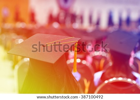University graduates  - stock photo