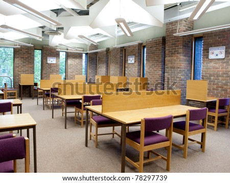 University library study area - stock photo