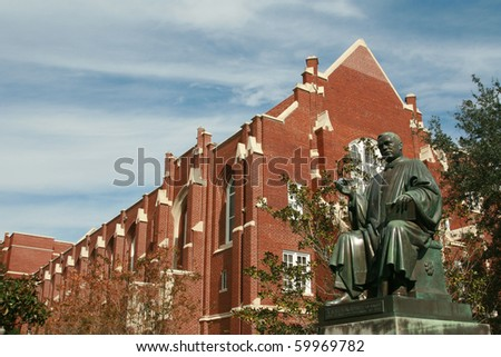 University of Florida Albert Murphree statue - stock photo