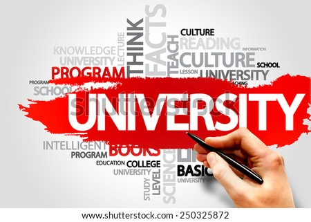 UNIVERSITY word cloud, education concept - stock photo