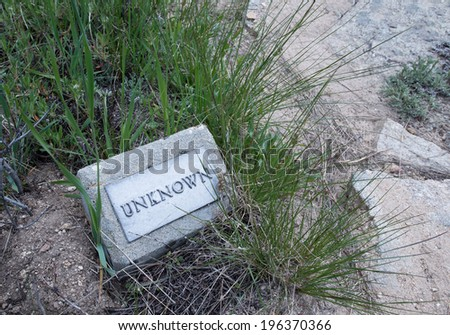 Unknown Grave Marker of Silver City - stock photo
