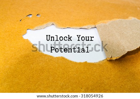 Unlock Your Potential Concept - stock photo