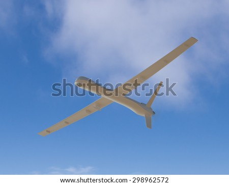 Unmanned aerial vehicle in the sky - stock photo