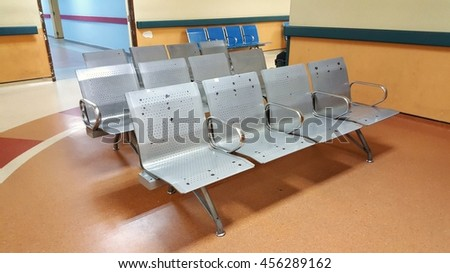 Unoccupied seat in the clinic. - stock photo