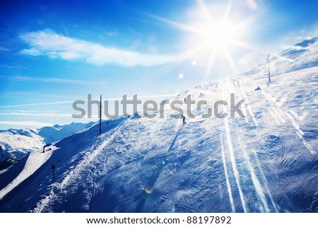 Ski resort stock photos illustrations and vector art