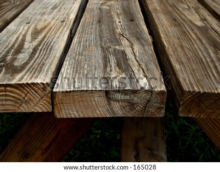 Unstained table wood - stock photo
