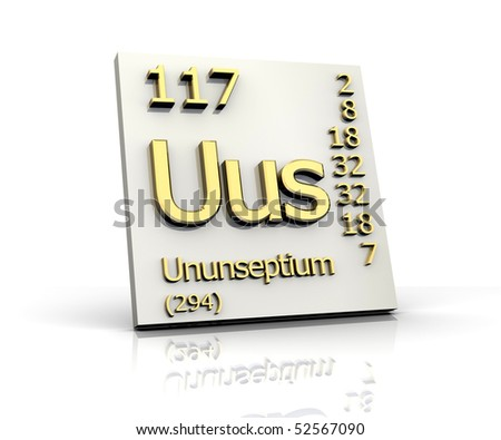 Ununseptium stock photos royalty free images vectors for 117 periodic table