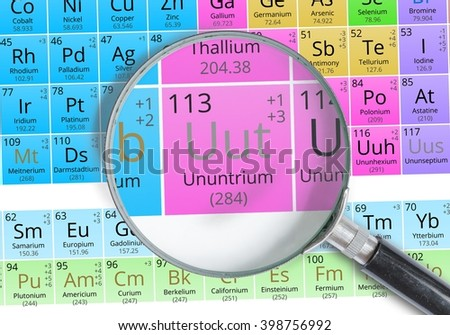 Ununtrium symbol uut element periodic table stock photo 398756992 ununtrium symbol uut element of the periodic table zoomed with magnifying glass urtaz Gallery