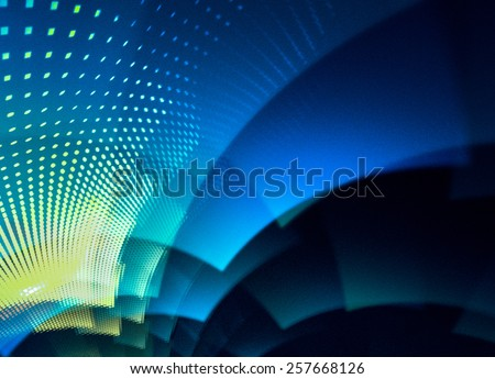 Unusual abstract background with techno geometric pattern, multi-layered and intriguing. - stock photo