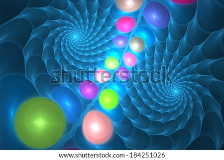 Unusual abstract colorful fractal mystical looking background - stock photo