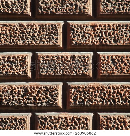 Unusual abstract old brick wall background texture