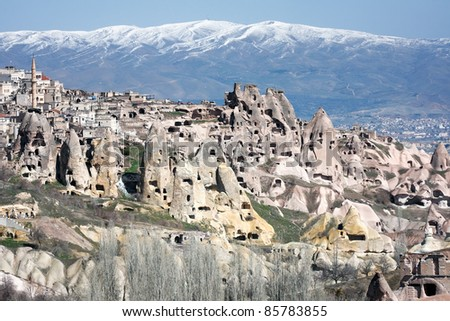 Fairy chimneys turkey stock images royalty free images for Unique dwellings