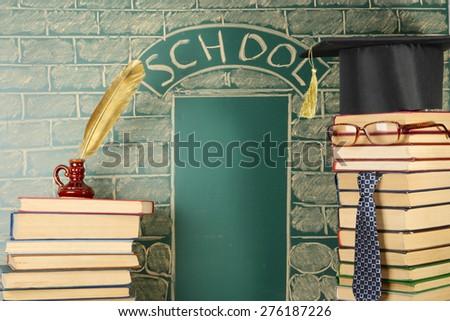 Unusual magic school idea - stock photo