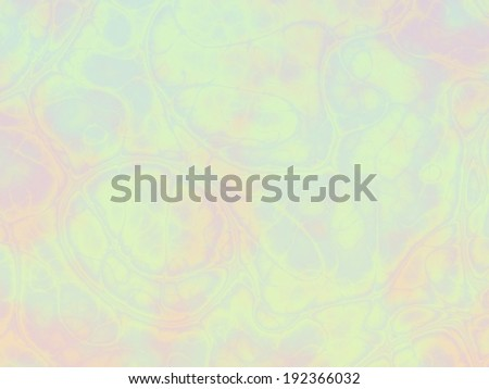 Unusual multicolored pastel background with light random pink, blue, green and purple stains, abstract transparent bubbles and veins. - stock photo