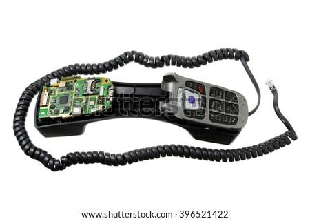 Unusual Phone on White Background - stock photo
