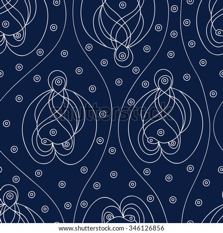 unusual seamless floral pattern paisley.