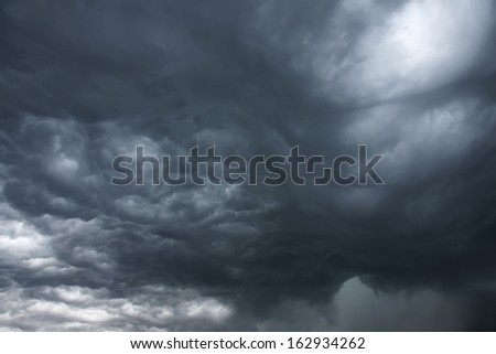 Unusual Sky with Ominous Dark Storm Clouds