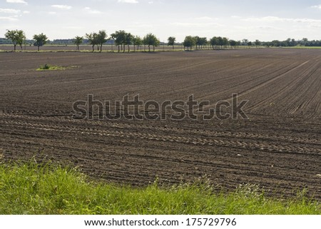 unworked fields - stock photo