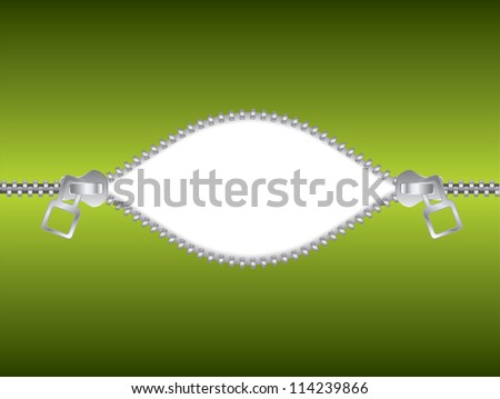 Unzipped text - stock photo