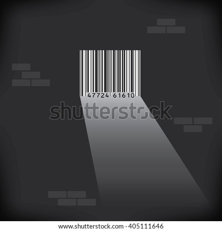 UPC prison cell graphic with space for text - stock photo