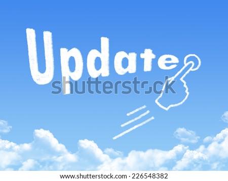 Update message cloud shape  - stock photo