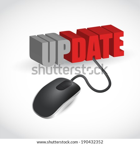 update mouse message illustration design over a white background